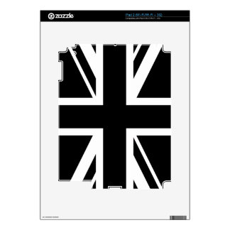 Union Jack ~ Black and White Decal For iPad 2
