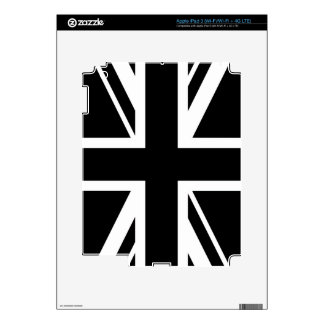 Union Jack ~ Black and White Decals For iPad 3