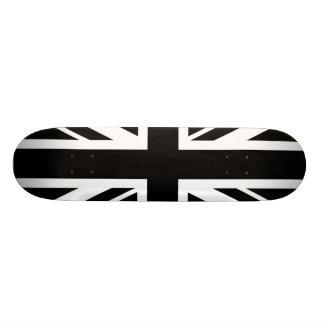 Union Jack ~ Black and White Skateboard Deck