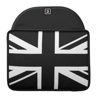 Union Jack ~ Black and White Sleeve For MacBooks