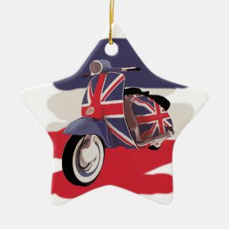 Union Jack Brit scooter Christmas Ornaments