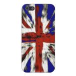 Union Jack británico apenado iPhone 5 Protectores