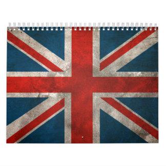 Union Jack británico Calendario