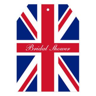 """Union Jack británico de la bandera de la moda Invitación 5"""" X 7"""""""