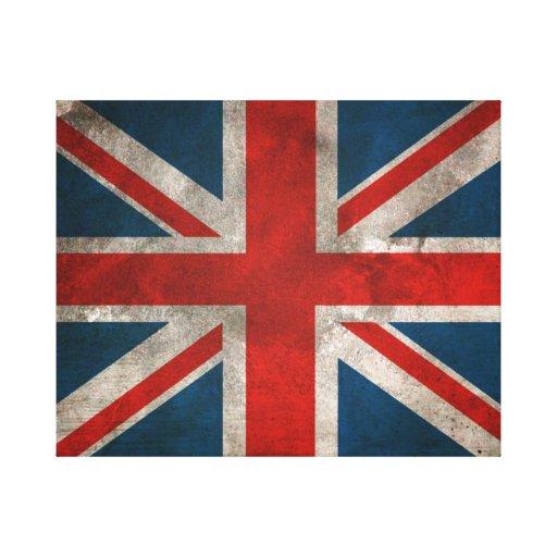 Union Jack británico Impresiones En Lona