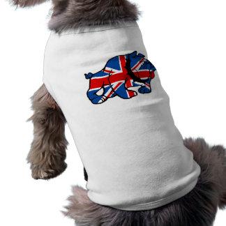 Union Jack British Bulldog Dog Tee Shirt
