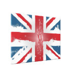 Union Jack British Flag Abstract Wax Art Gallery Wrap Canvas
