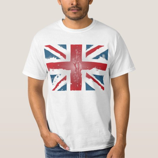 Union Jack British Flag Abstract Wax Art T-Shirt
