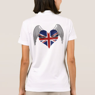 Union Jack British Flag Angel Wing Uniform Pattern Polo Shirt