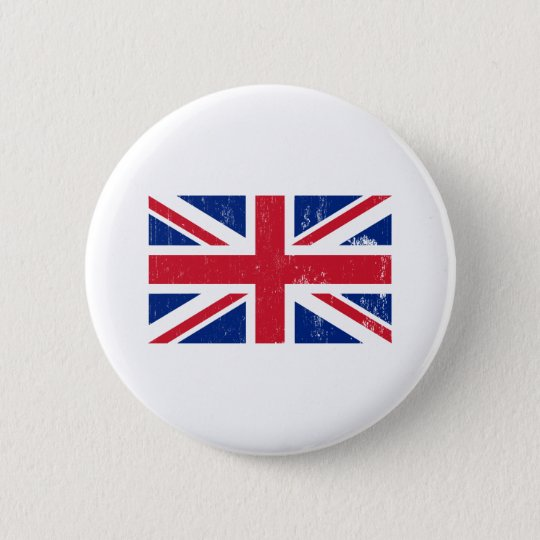 Union Jack British Flag Button