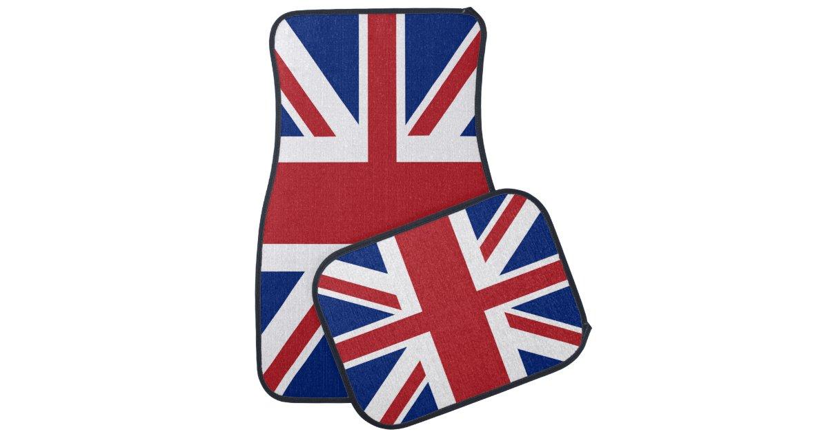 Union jack british flag car mat zazzle for Ohrensessel union jack