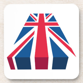 Union Jack, British flag in 3D Coaster