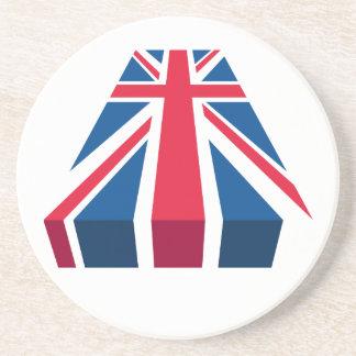 Union Jack, British flag in 3D Coaster