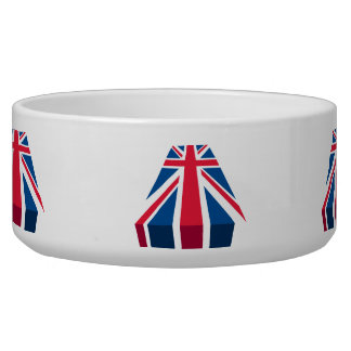 Union Jack, British flag in 3D Dog Water Bowl
