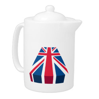 Union Jack, British flag in 3D Teapot