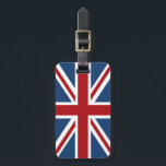 """Union Jack British Flag Luggage Tag<br><div class=""""desc"""">Union Jack British Flag in patriotic red white and blue. Customize this UK design by changing the text. This design is available in a wide variety of products. Cheers!</div>"""