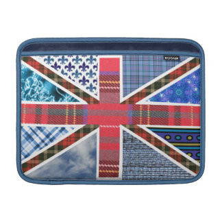 Union Jack British Flag made from fabric patterns MacBook Air Sleeve