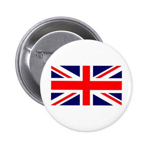 Union Jack British Flag Pinback Button