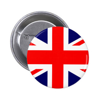 Union Jack British Flag Pinback Button