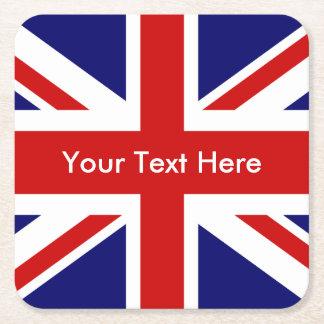 Union Jack British Flag Square Paper Coaster