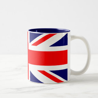 Union Jack British Flag Two-Tone Coffee Mug
