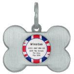 Union Jack British Flag UK ID Name Pet Name Tag