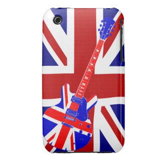 Union Jack British Guitar Art 2 iPhone 3 Covers