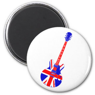 Union Jack British Guitar Art Magnet