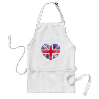 Union jack british heart flag apron