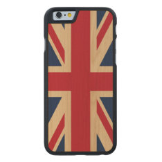 Union Jack British National Flag Carved® Maple Iphone 6 Case at Zazzle