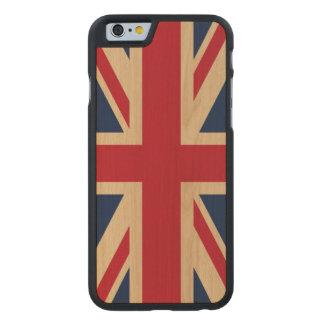 Union Jack British National Flag Carved® Maple iPhone 6 Case