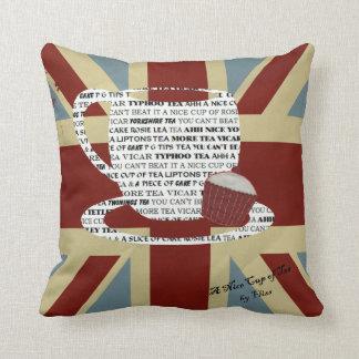 Union Jack British Tea Theme Pillow/Cushion Throw Pillow