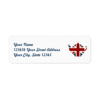 Union Jack British Teapot Label