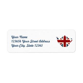 Union Jack British Teapot Label