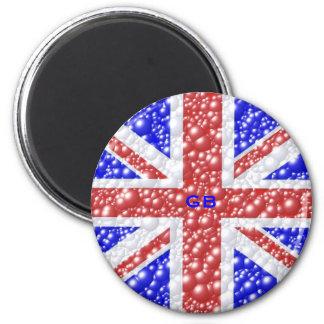 Union Jack Bubble Texture 2 Inch Round Magnet