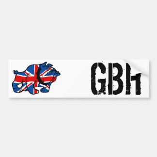 Union Jack Bulldog Car Bumper Sticker