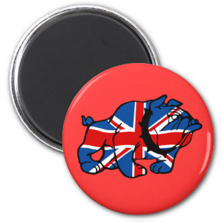 Union Jack Bulldog 2 Inch Round Magnet
