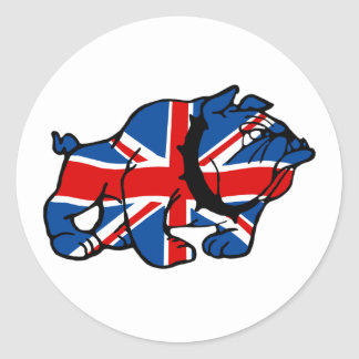 Union Jack Bulldog Classic Round Sticker