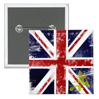 Union Jack Pinback Button