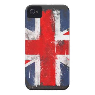 Union Jack - caja intrépida de Blackberry iPhone 4 Cárcasas