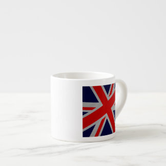 Union Jack Carbon Fiber Style Decor Espresso Cup