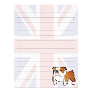 Union Jack Cartoon English Bulldog Letterhead