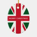 Union Jack Christmas Ornaments