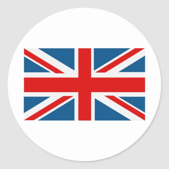 Union Jack Classic Round Sticker