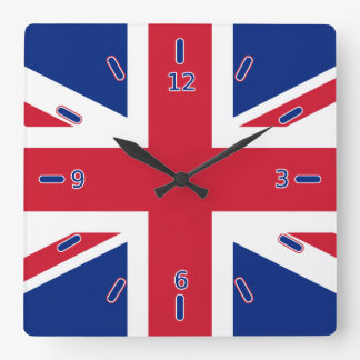 Union Jack Clock (With Numbers)