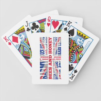 Union Jack, cockney rhyming slang Bicycle Playing Cards