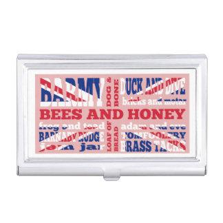 Union Jack, cockney rhyming slang Business Card Case