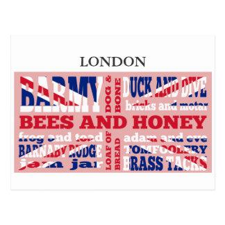 Union Jack, cockney rhyming slang Postcard