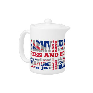 Union Jack, cockney rhyming slang Teapot