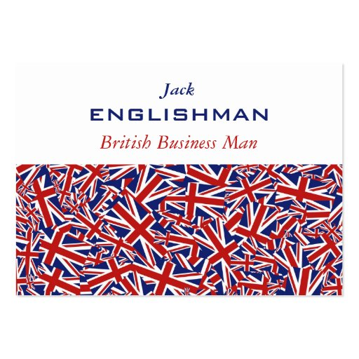 Union jack collage large business cards pack of 100 zazzle for Union made business cards